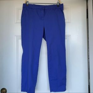 •J Crew• Cafe Capri Pants in Periwinkle - Size 8